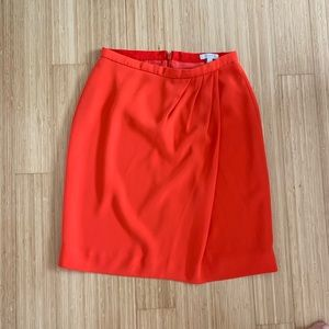 J. Crew orange a-line skirt size 2 - dry clean